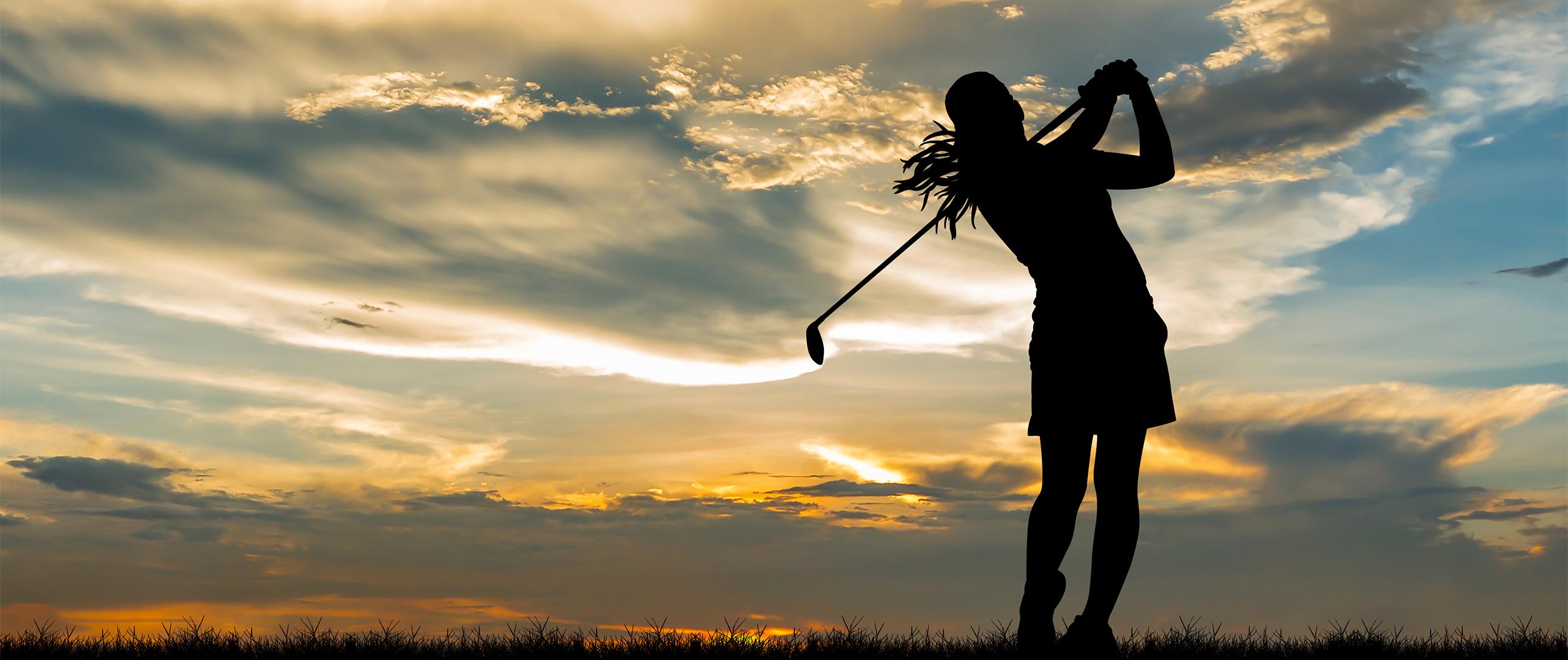Kvinnlig golfare